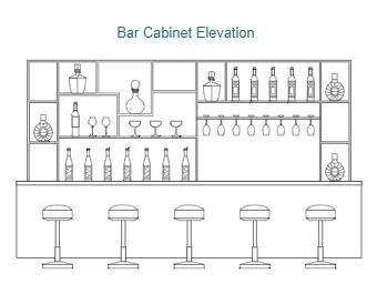 Bar Cabinet Elevation