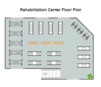 Rehabilitation Center Floor Plan