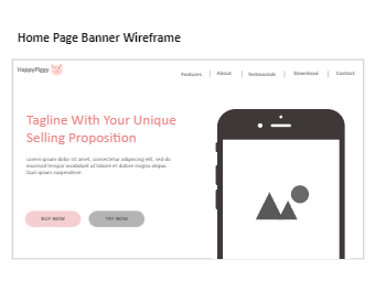 Home Page Banner Wireframe
