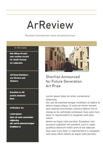 Art General Newsletter