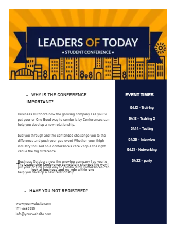 Event Newsletter Template