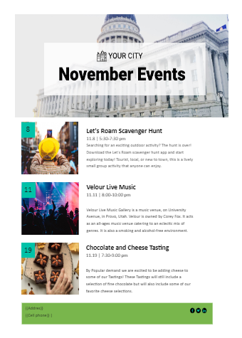 Free Newsletter Event Template