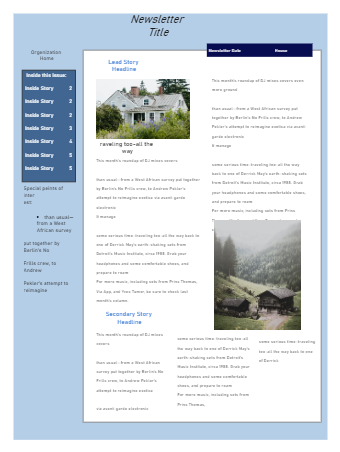 Newsletter Template for Office
