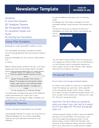 Newsletter Template for Word