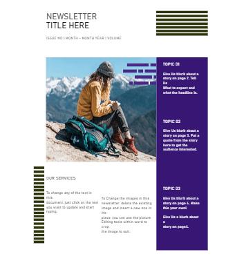 Travel Newsletter Template