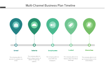 Multi-Channel Business plan timeline