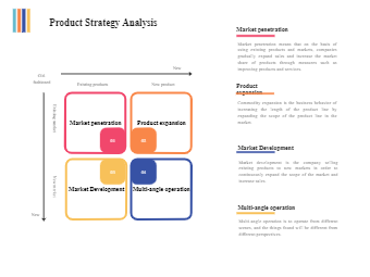 Product Strategy Analysis Matrix
