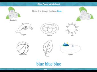 Worksheet for Color Game