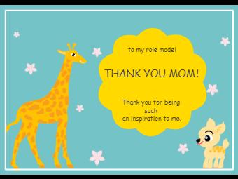 Deer Thank You Card