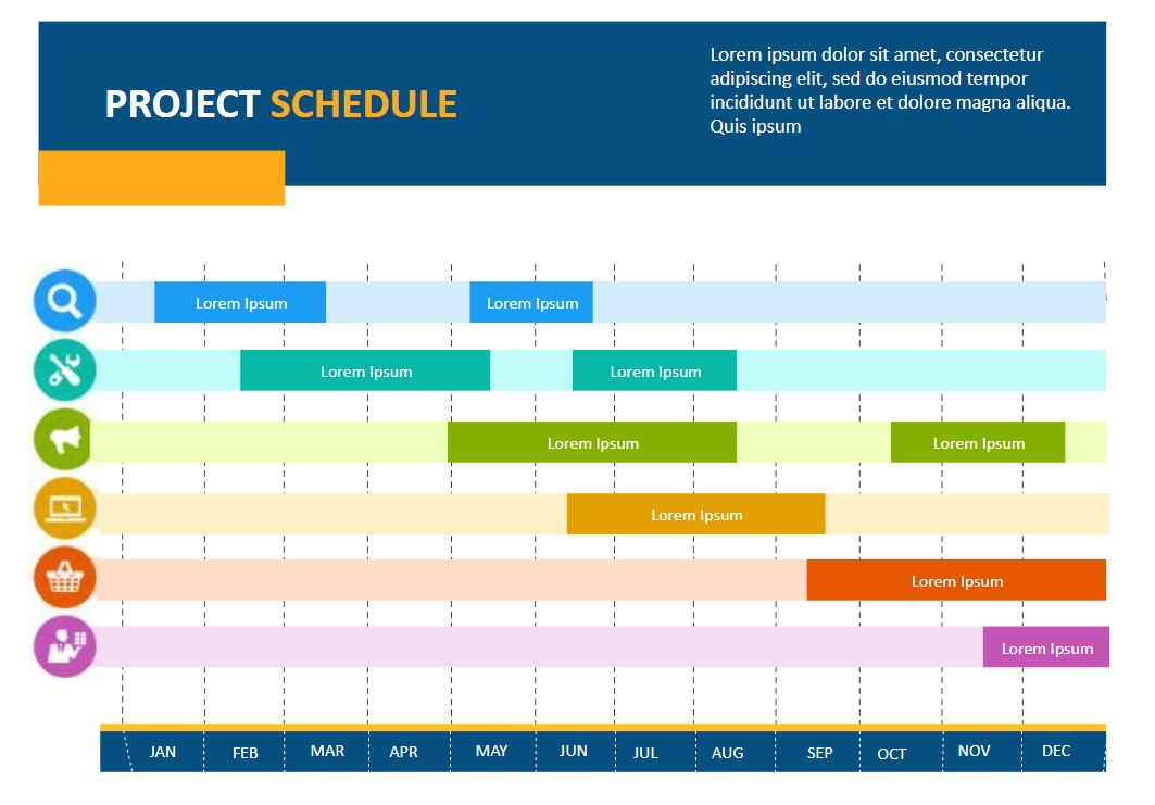 Blank Project Calendar Template