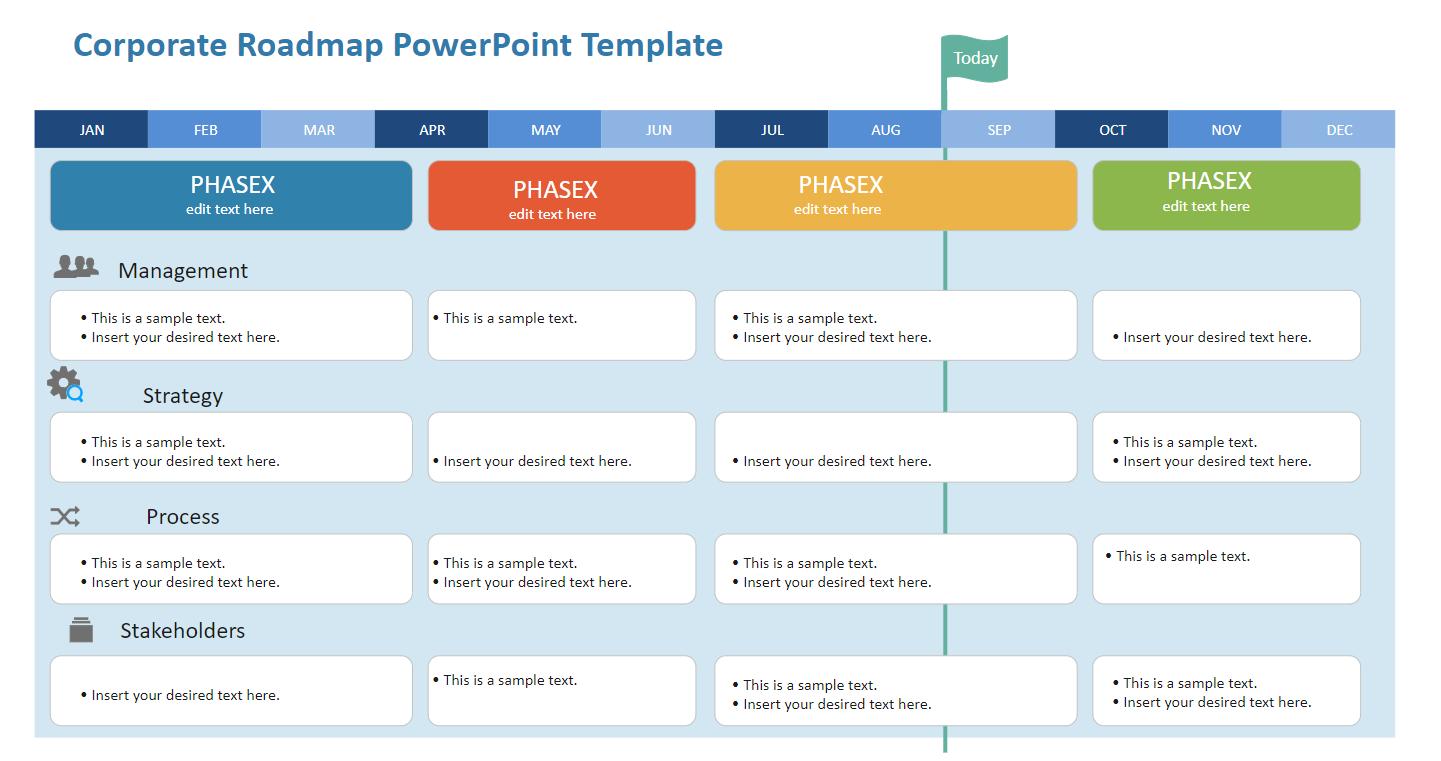 Corporate Roadmap PowerPoint Template