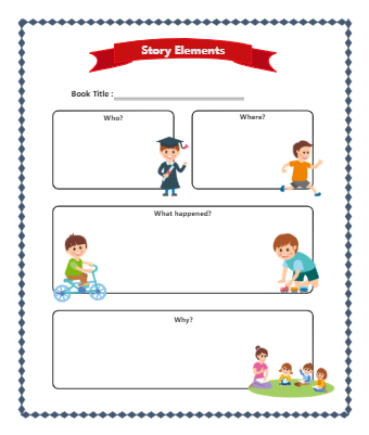 Story Elements Graphic Organizer for Middle School