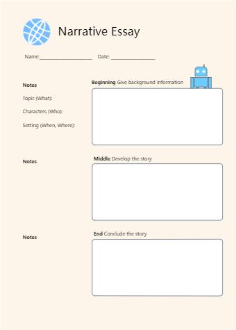 Narrative Writing Graphic Organizer 1st Grade