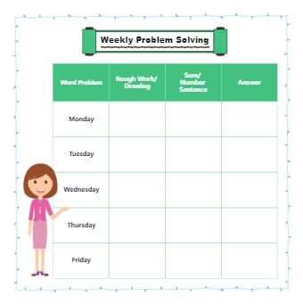 Weekly Problem and Solution Graphic Organizer