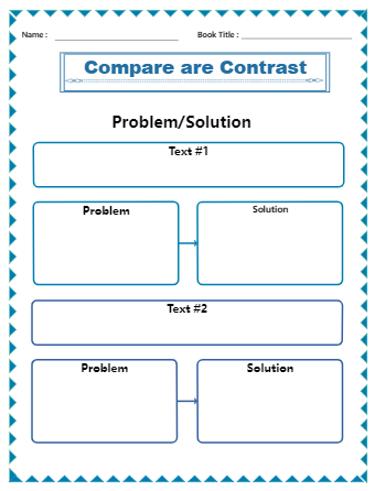 Problem and Solution Graphic Organizer PDF