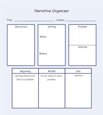 Narrative Writing Graphic Organizer Examaple
