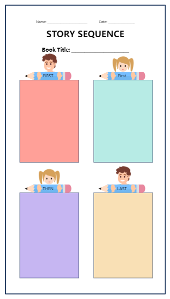Story Squence Graphic Organizer Template
