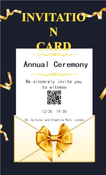 Annual Celebration Invitation Poster