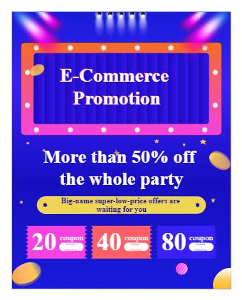 Promotional E-Commerce Poster