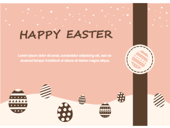 Brown Style Easter Day Card