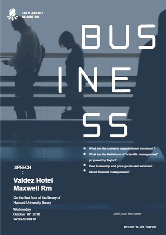 Business Lecture Poster
