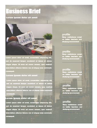 Business Monthly Newsletter