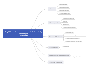 Hospital Information Interconnection Mind Map