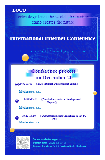 Internet Conference Poster