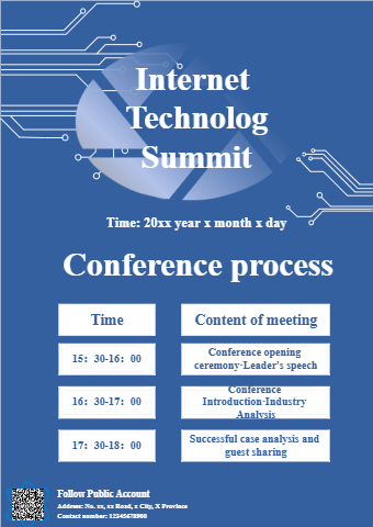 Internet Technology Summit Promotional Poster