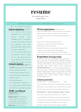 Marketing Specialist Resume