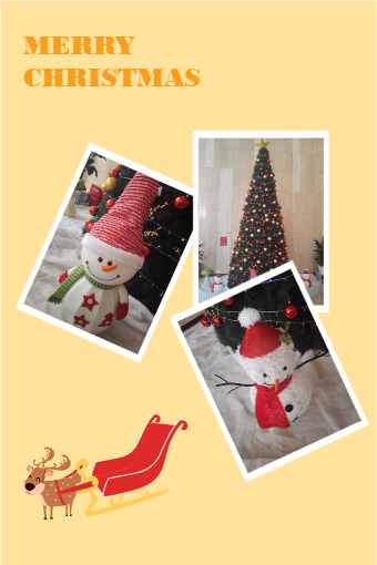 Christmas Photo Collage Poster