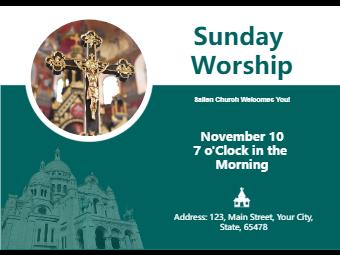 Church Invitation Card