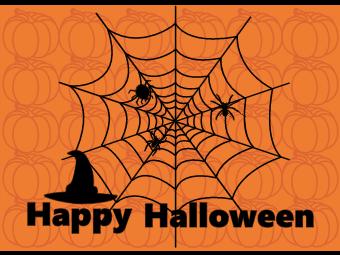 Cobweb Halloween Card