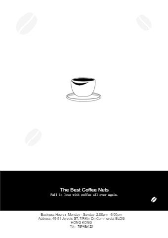 Coffee Shop Leaflet