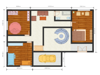 House Plan with Color