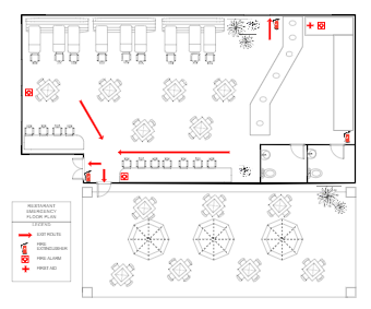 Restaurant Emergency Floor Plan
