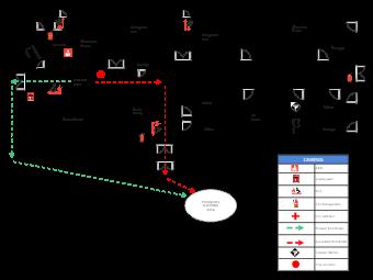 University Evacuation Plan Example