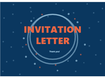 Invitation Card with Dots