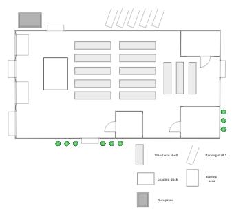 Warehouse Security Floor Plan