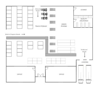 Underground Warehouse Floor Plan