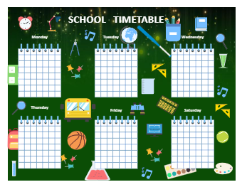 Blank School Timetable