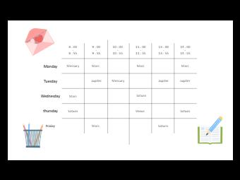 Free Editable Class Schedule