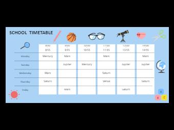 Primary School Class Schedule