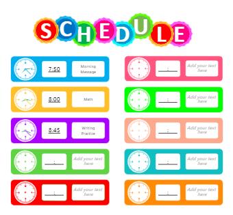 School Schedule Example