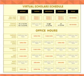 Virtual Scholars Schedule