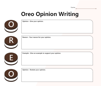 Ipad Graphic Organizer - Oreo Opinion Writing