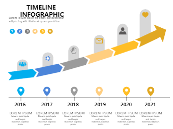 6 Year Timeline Infographic