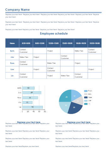 Employee Schedule Form