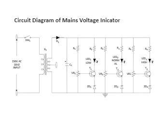 AC mains voltage indicator
