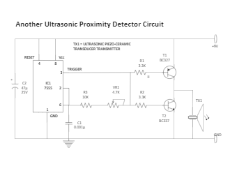 Another Ultrasonic Proximity Detector Circuit